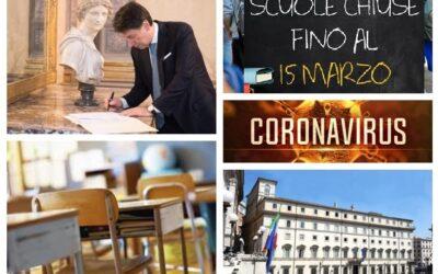 Chiusura di scuole e università in tutta Italia da giovedì 5 marzo, fino al 15 marzo