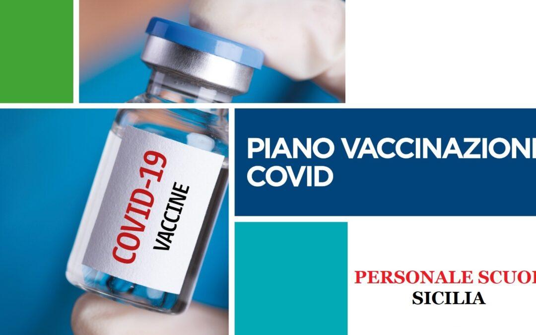 Avvio del Piano di vaccinazione contro SARS-CoV-2/COVID – 19 per il personale delle scuole in Sicilia