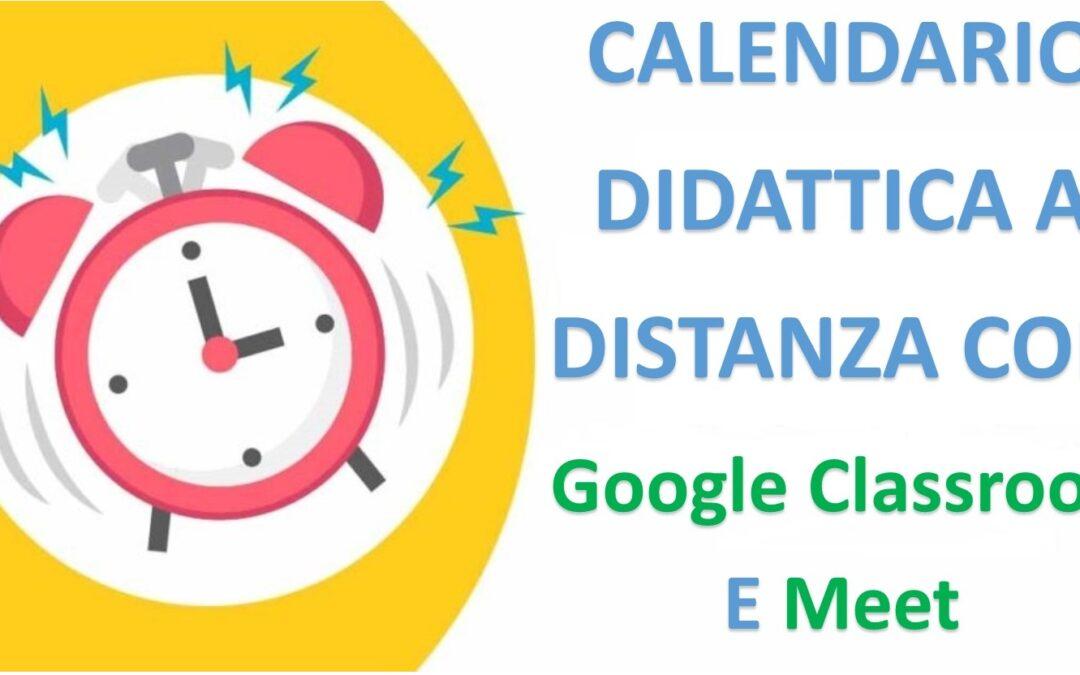 Calendarizzazione per l'utilizzo Strumenti Google