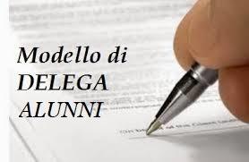 MODELLO DI DELEGA ALUNNI