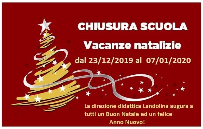 Vacanze di Natale 2019