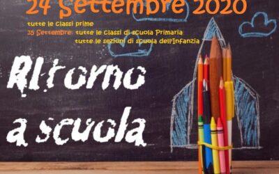 Inizio lezioni anno scolastico 2020-2021