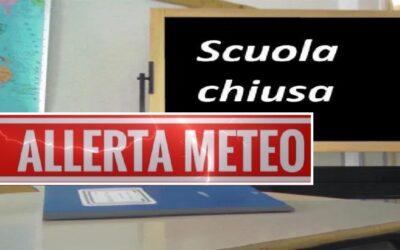 Avviso chiusura istituzione scolastiche per avverse condizioni atmosferiche in data 12/11/2019
