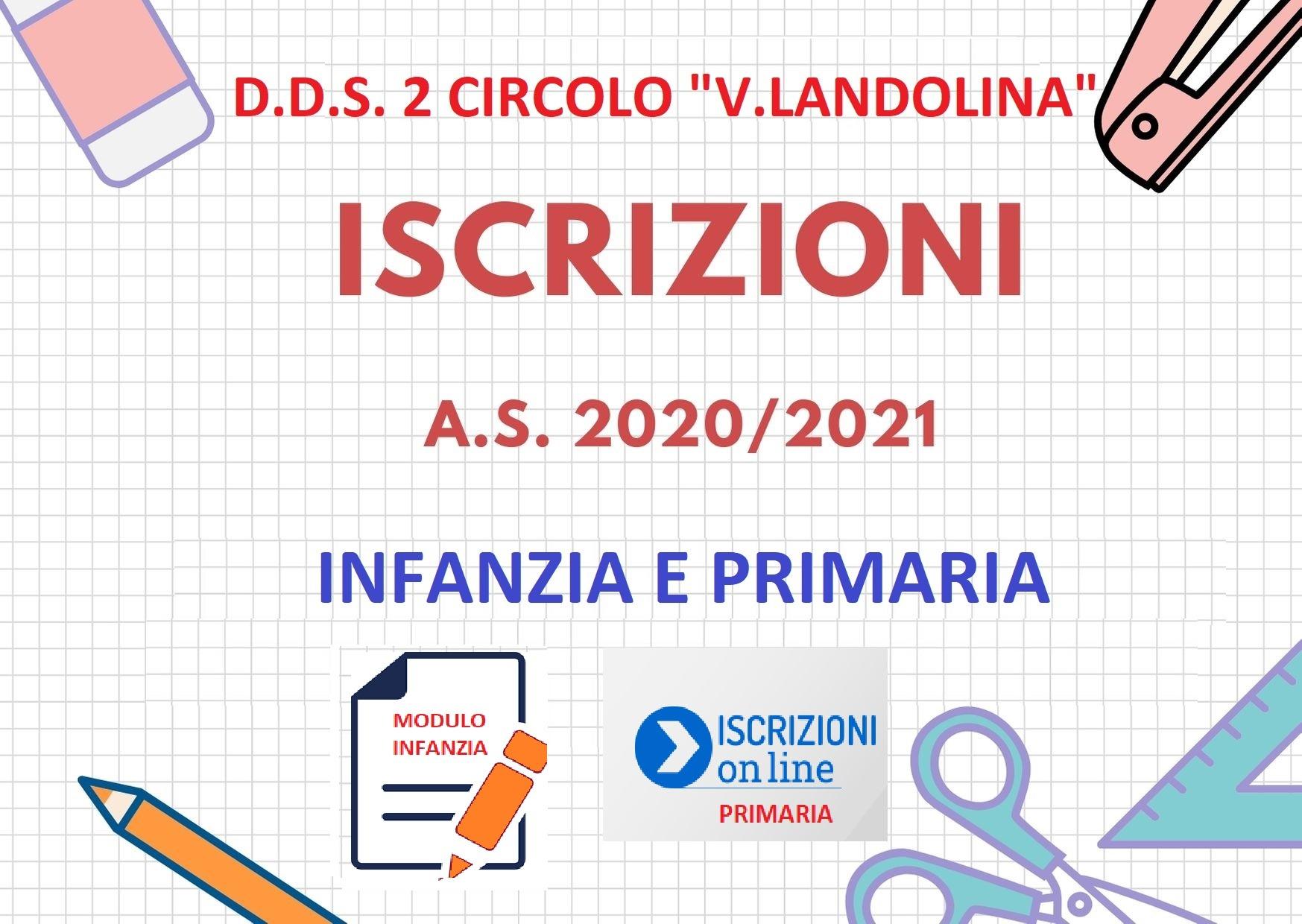 ISCRIZIONI SCUOLA INFANZIA E PRIMARIA A.S. 2020-21