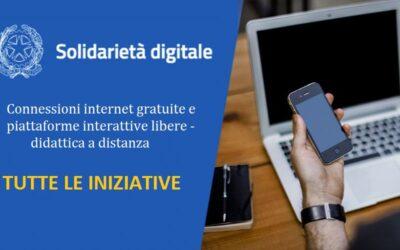 """""""Solidarietà Digitale"""", connessioni internet gratuite e piattaforme interattive libere – didattica a distanza"""