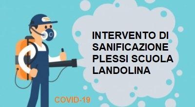 10/11/2020 – Intervento di sanificazione plessi scuola Landolina